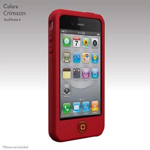 Original SwitchEasy Apple iPhone 4 Colors Silicone Case, SW-COL4-R - Crimson