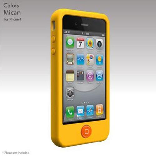 Original SwitchEasy Apple iPhone 4 Colors Silicone Case, SW-COL4-Y - Mican