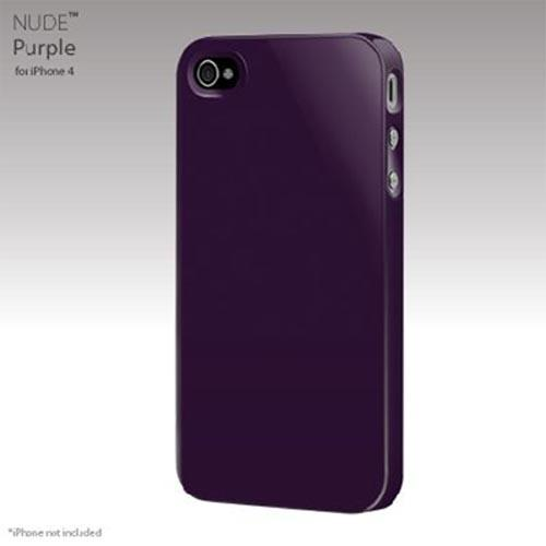 Original SwitchEasy Apple iPhone 4 Nude Slim Case, SW-NUI4-PU - Purple