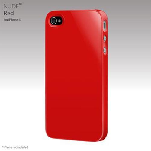 Original SwitchEasy Apple iPhone 4 Nude Slim Case, SW-NUI4-R - Red