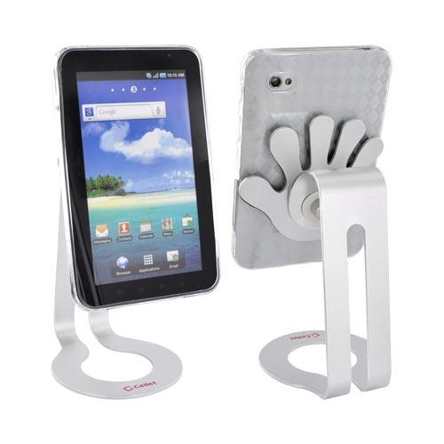 Samsung Galaxy Tab P1000 Bundle Package w/ Clear Argyle Crystal Silicone Case & Cellet Universal Non-Slip Tablet Stand