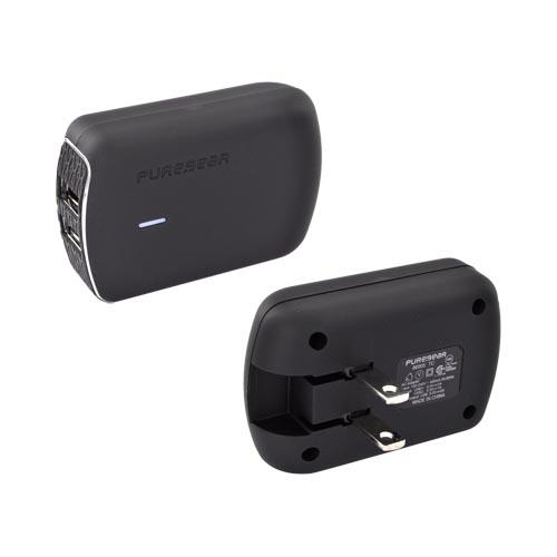 PureGear Black Universal 2A Dual Port USB Wall Charger - 1A Per Port!