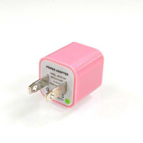 Baby Pink Apple iPhone 3/ 4/ 5 USB Input Travel/ Home Wall Charger Adapter