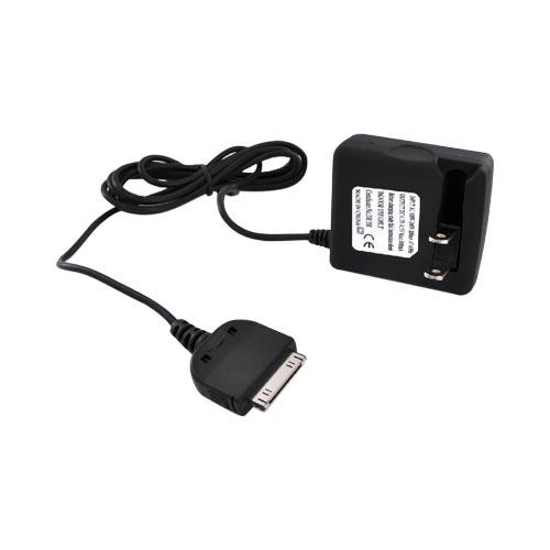 Premium Apple iPad / iPhone 4 3G 3Gs Rapid Travel AC Wall Charger - Black