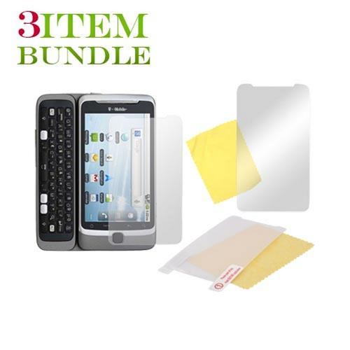 T-Mobile G2 Bundle Package - Mirror, Anti-Glare & Premium Screen Protectors - (Essential Combo)