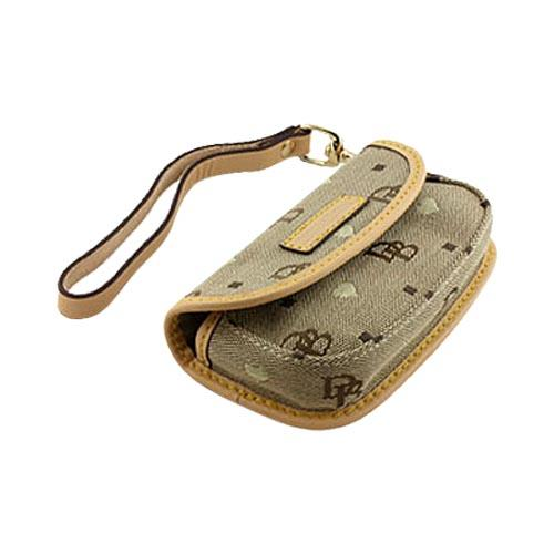 Original Dooney & Bourke Universal Pouch Case w/ Card Holders and Magnetic Closure and Strap, UH2439 - Brown (PUTL)
