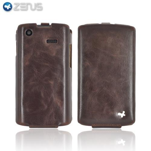 Original Zenus Samsung Captivate i897 Masstige Leather Case Folder Series - Black Chocolate