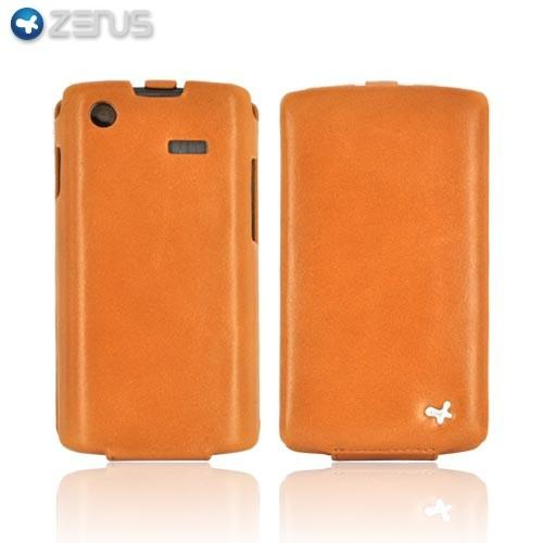 Original Zenus Samsung Fascinate i500 E'stime Leather Case Folder Series - Camel Brown