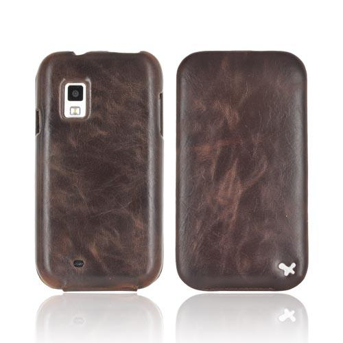 Original Zenus Samsung Fascinate i500 Masstige Leather Case Folder Series - Black Chocolate
