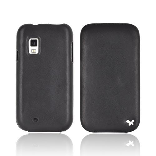 Original Zenus Samsung Fascinate i500 Prestige Leather Case Folder Series - Black