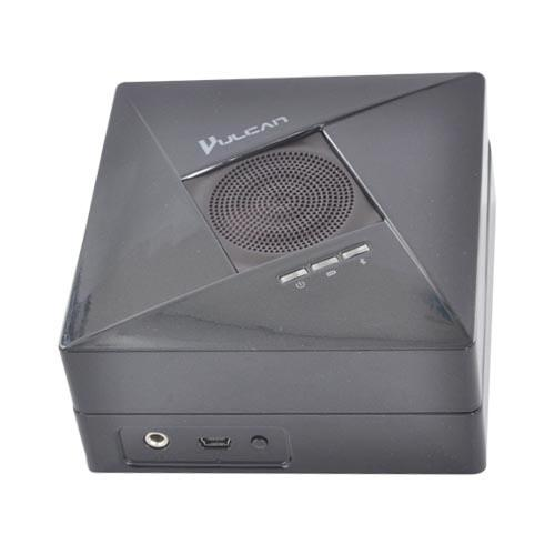 Original Vulcan Phantom Solo Wireless Bluetooth Speaker w/ USB Charging Cable & 3.5mm Audio Cable, VA114BTBLK - Black