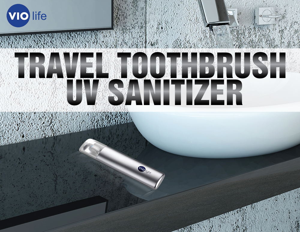 Original VIO Light  Personal Travel Toothbrush Sanitizer, VIO200 - Silver