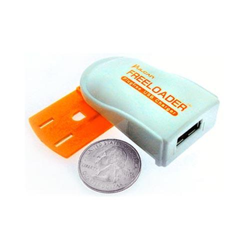 Original Vulcan Universal Freeloader Plugfree USB Charger (1000mAh), VPS11Q1FL - White/ Orange