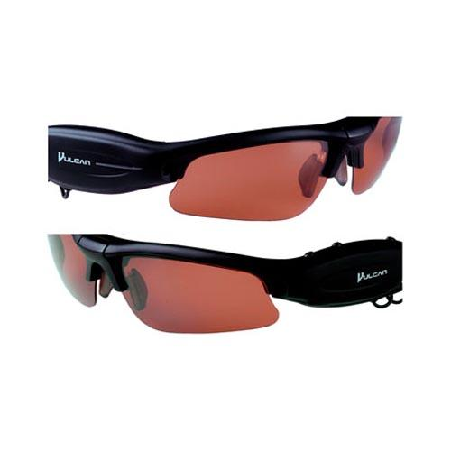 Vulcan Technology Multimedia Sunglass Shades w, Mp3 Video Recording & more, VS104M - Black w, Multi-Color Shades