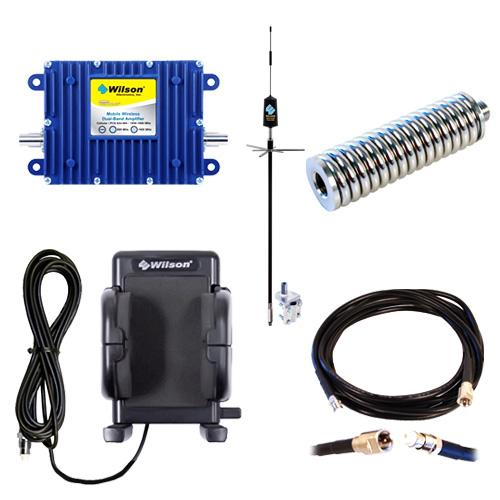 Wilson Cellular 40dB In-Vehicle Wireless Dual-Band 800MHz/1900MHz Cellular/PCS Bi-Directional Amplifier Kit (Includes Cell Phone Cradle Plus) for Trucks- PRIME