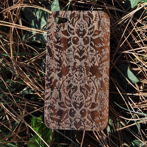 Exclusive TPhone Apple Verizon/ AT&T iPhone 4, iPhone 4S 100% Hard Wood Back Cover Case - Sonokeling Black Wood (Avantgarde Design)