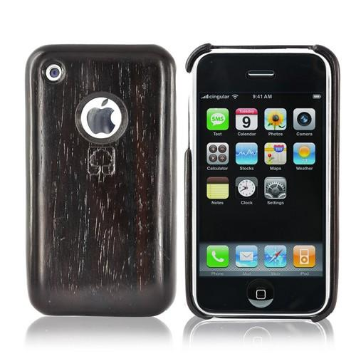 """Exclusive"" TPhone Eco-Design Apple iPhone 3GS 3G 100% Hard Wood Back Cover Case - Sonokeling Wood"