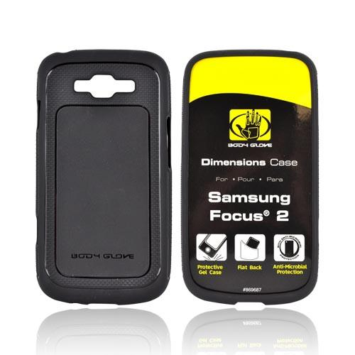 Original Body Glove Samsung Focus 2 Dimensions Slim Protective Crystal Silicone Case, CRC92777 - Black