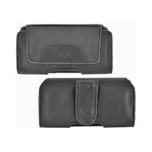 Original Naztech Marquee H Universal Horizontal Leather Pouch w/ Nylon Accents, Belt Clip & Magnetic Closure - Black (PUTL)