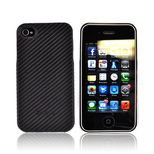 Zenus Apple iPhone 4, iPhone 4S Prestige Skin Air Pocket Case - Black Carbon Fiber