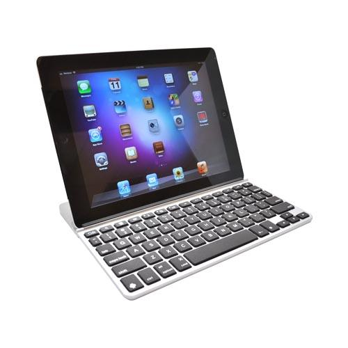 Original ZAGG Universal ZAGGkeys SOLO Bluetooth Keyboard for iOS & Android Devices (Like New Apple iPad & Samsung Galaxy Tab) - Silver w/ Black Keys